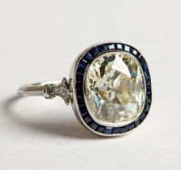 I WANT / Diamond and Saphire ring