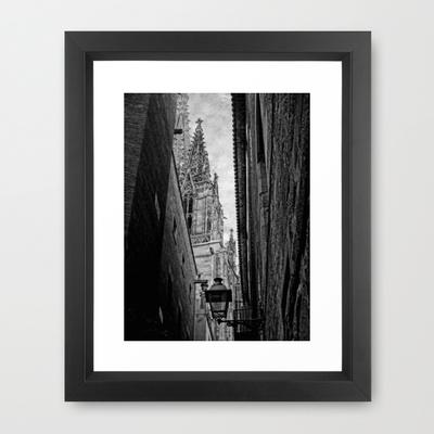 Spire Framed Art Print by Ally Coxon | Society6