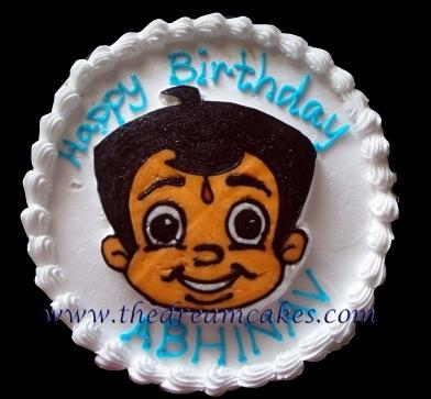chota bheem cake in pune and hyderabad by the dream cake owned by - 3mik.com