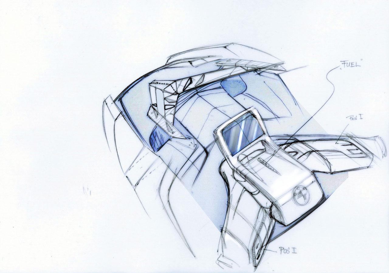 BMW Concept e Design Sketches - Car Body Design