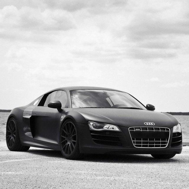 Matte Black Audi R8 | Fancy Crave