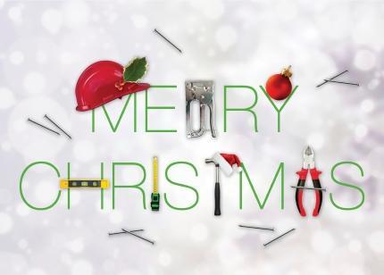Christmas Tools Holiday Card - Construction Christmas Cards