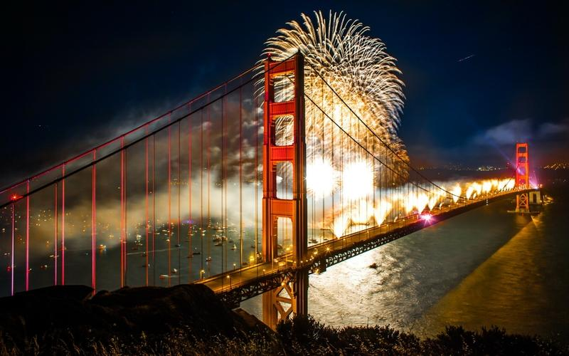 night,seas seas night lights fireworks ships bridges golden gate bridge san francisco boats new year cities – night,seas seas night lights fireworks ships bridges golden gate bridge san francisco boats new year cities – Bridges Wallpaper – Desktop Wallpaper