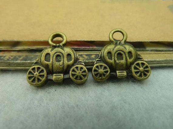 20pcs 14x14mm ancient bronze pumpkin car c3909 by bjerkf on Etsy