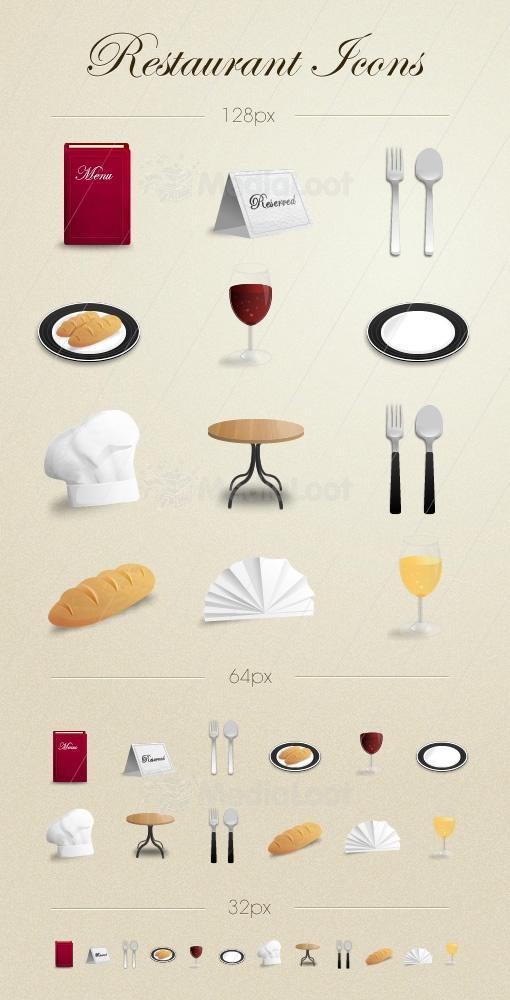 Restaurant Icons | MediaLoot