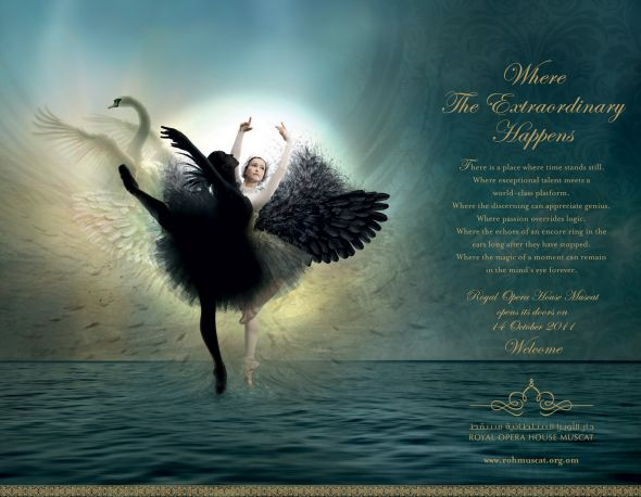 "Royal Opera House Muscat: Swan Lake | Ads of the Worldâ""¢"