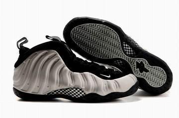 2010 air foamposite one metallic silver/black sneakers for men