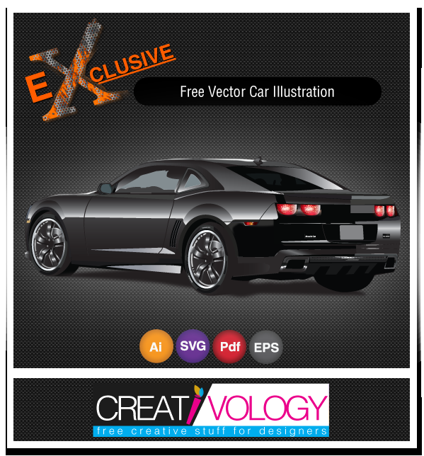 Free Vector Car Illustration | creativology.pk
