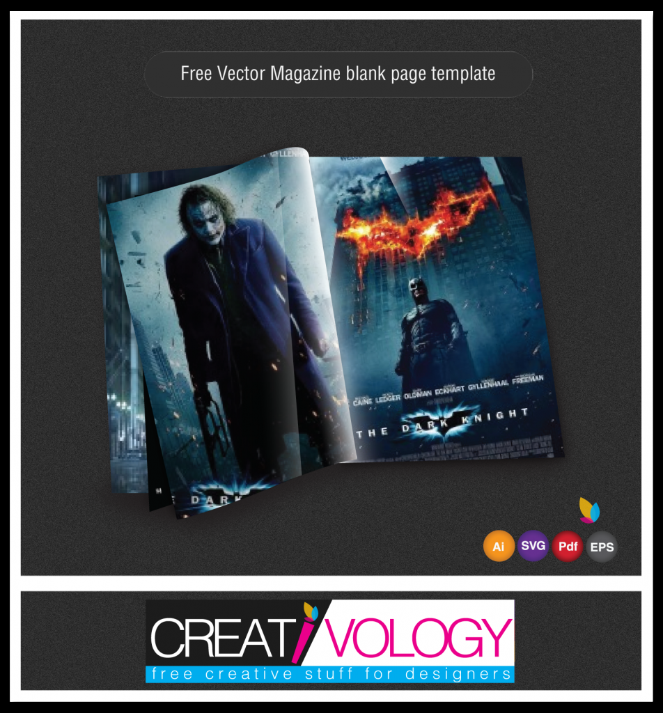 Free Vector Magazine Page Template | creativology.pk