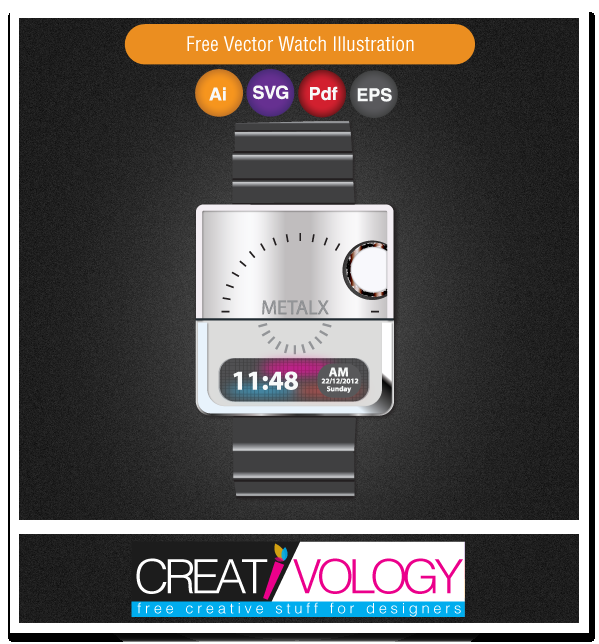 Free Vector Watch Illustration | creativology.pk