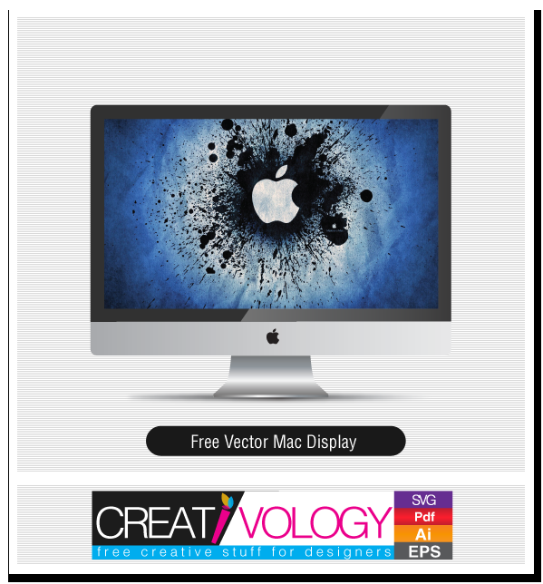 Free Vector Mac Display | creativology.pk