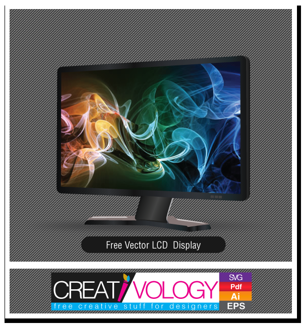 Free Vector LCD Display 2 | creativology.pk