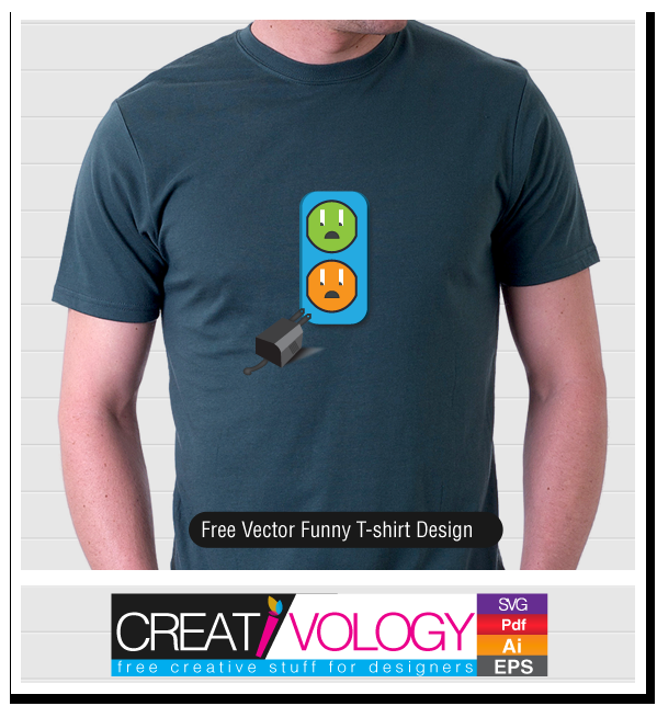 Free Vector Funny T-shirt Design | creativology.pk