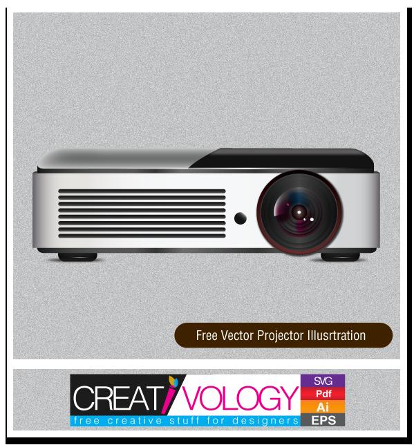 Free Vector Projector Illustration | creativology.pk