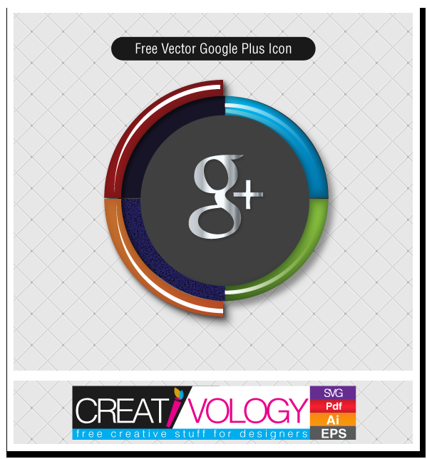 Free Vector Google Plus Icon | creativology.pk
