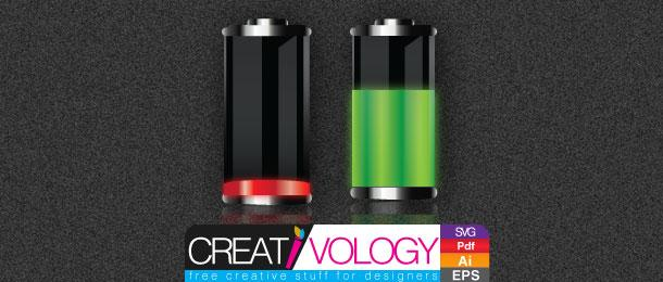 Free Vector Battery Charge Status | creativology.pk