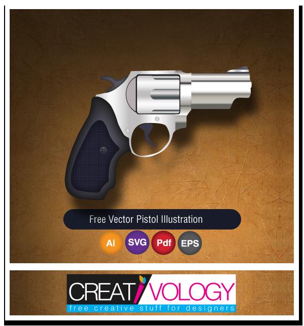 Free Vector Pistol Illustration   creativology.pk