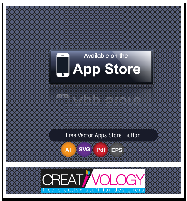 Free Vector Apps Store Button | creativology.pk