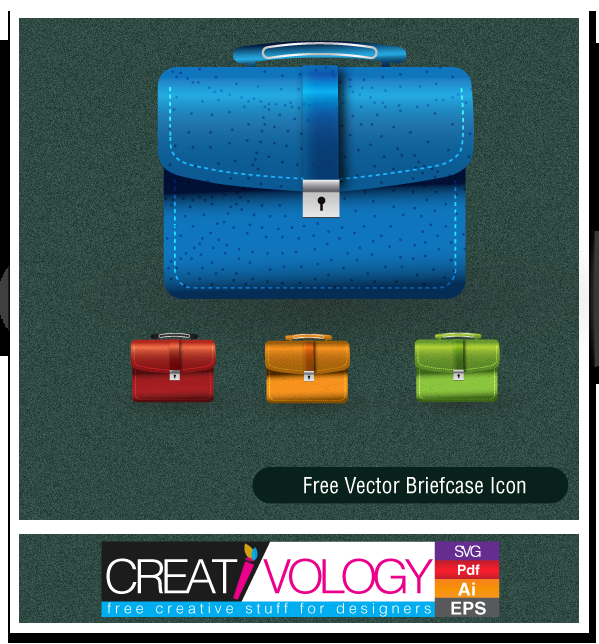 Free Vector Briefcase Icon | creativology.pk