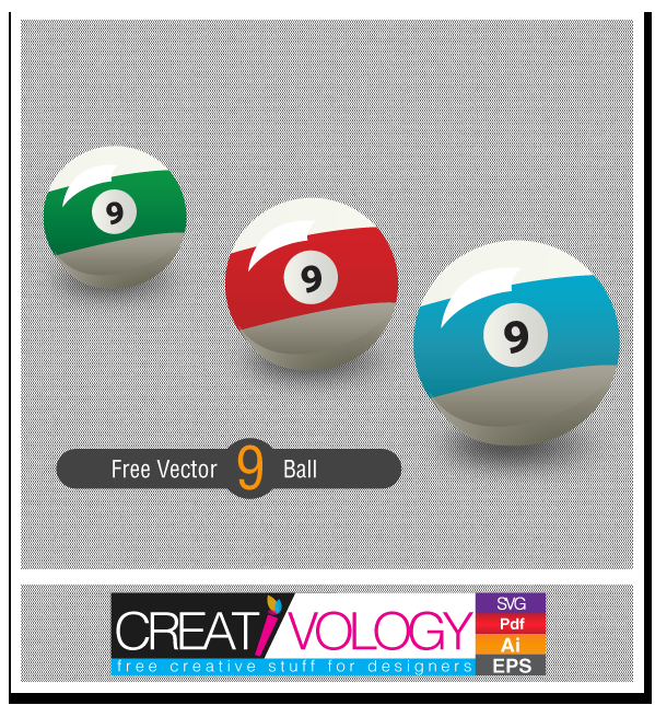 Free Vector 9 Ball | creativology.pk