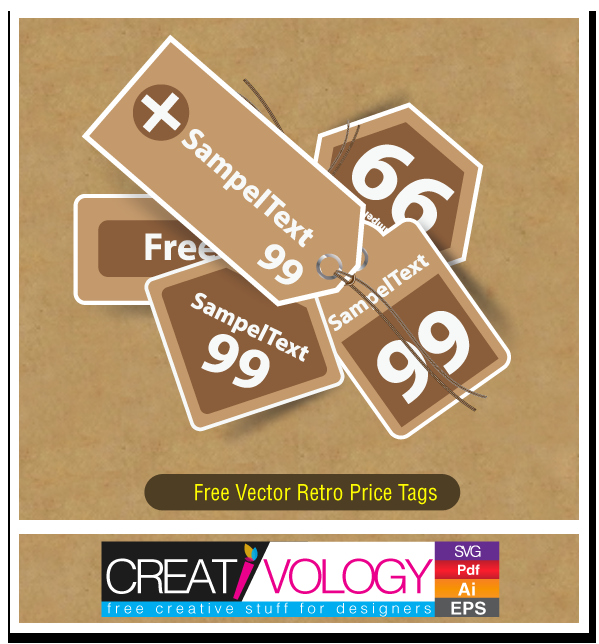 Free Vector Retro Price Tags | creativology.pk
