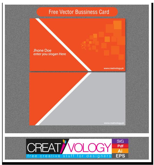 Free Vector Bussiness Card | creativology.pk