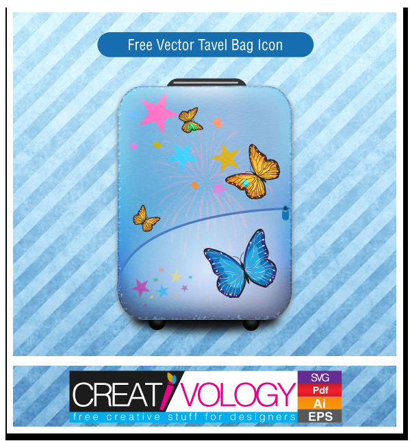 Free Vector Tavel Bag Icon | creativology.pk
