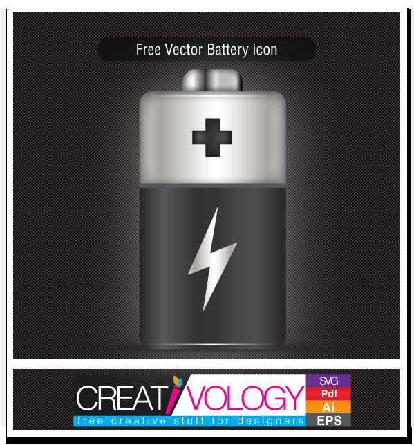 Free Vector Battery icon | creativology.pk
