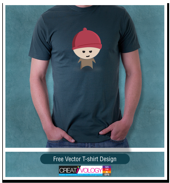 Free Vector T-shirt Design | creativology.pk