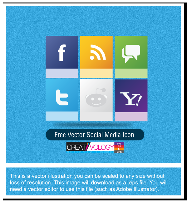 Free Vector Social Media Icon | creativology.pk