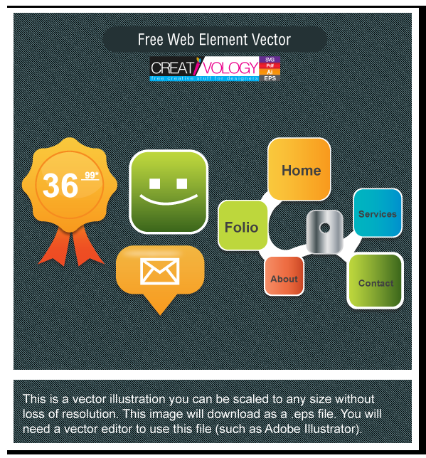 Free Web Element Vector | creativology.pk