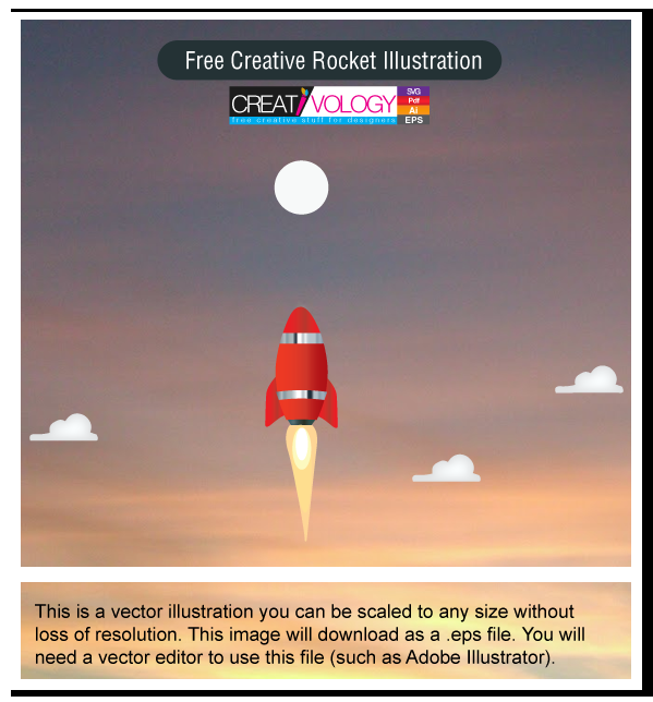 Free Creative Rocket Illustration | creativology.pk