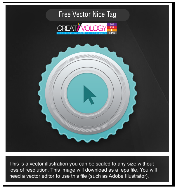 Free Vector Nice Tag | creativology.pk