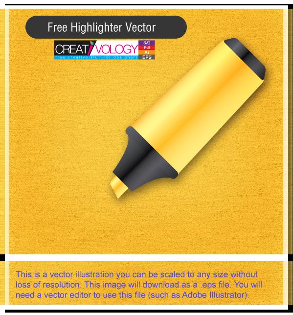 Free Highlighter Vector | creativology.pk