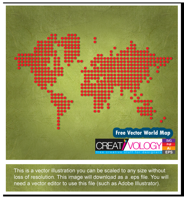 Free Vector World Map | creativology.pk