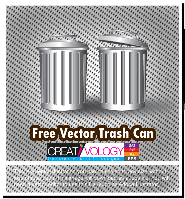 Free Vector Trash Can | creativology.pk