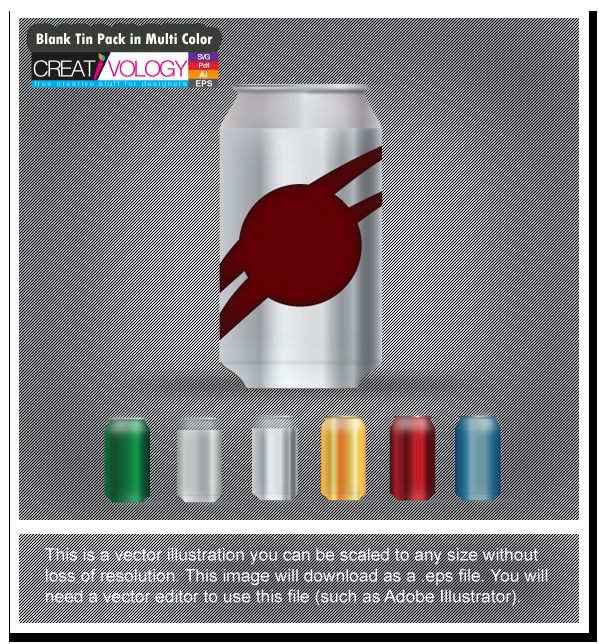 Blank Tin Pack in Multi Color   creativology.pk