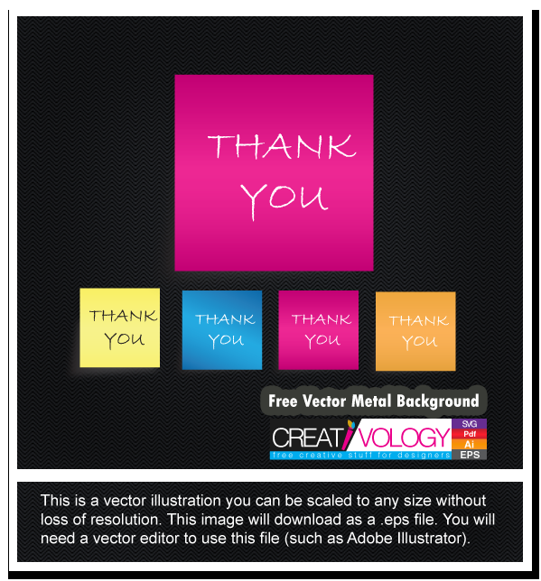 Free Vector thank you Note | creativology.pk