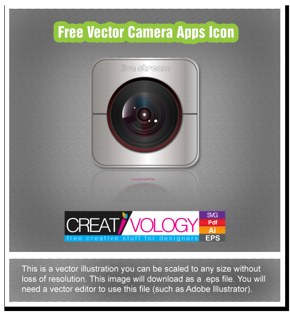 Free Vector Camera Apps Icon | creativology.pk