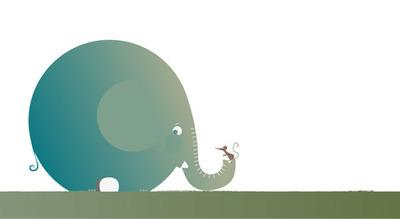 Dan, The Shy Elephant. Shape tests for my final... - wide eyes