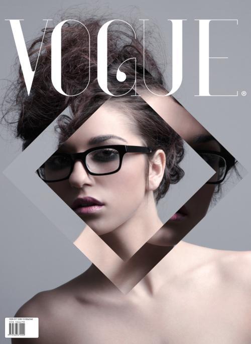 | Si simple, mais tellement agréable. Couverture de conception de Vogue.