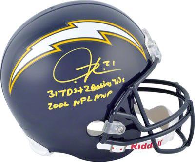 LaDainian Tomlinson Autographed Helmet | Details: San Diego Chargers, Replica, 3 Inscriptions