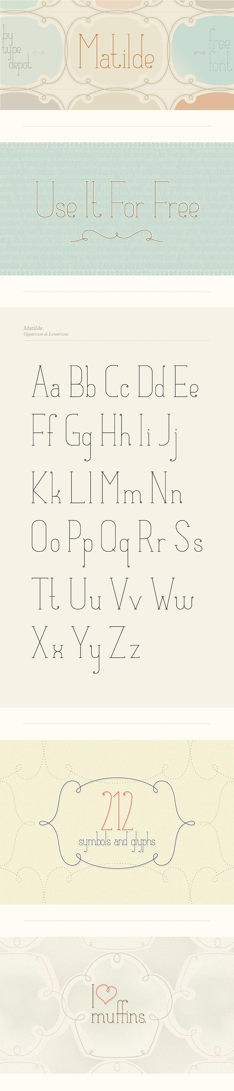 Matilde Free Font « typedepot