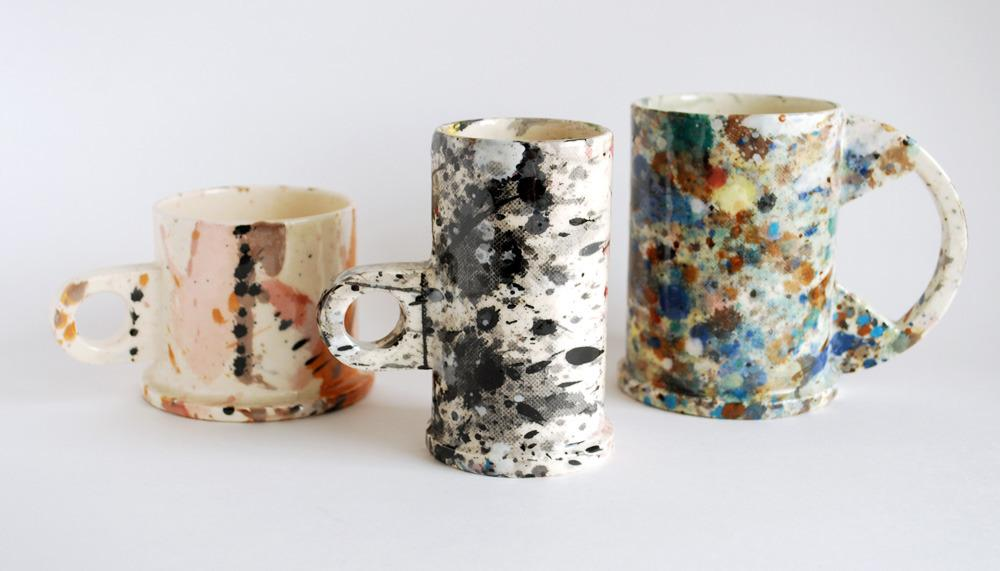 OUI — PETER SHIRE splatter mugs