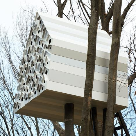 Bird-apartment treehouse by Nendo - Dezeen