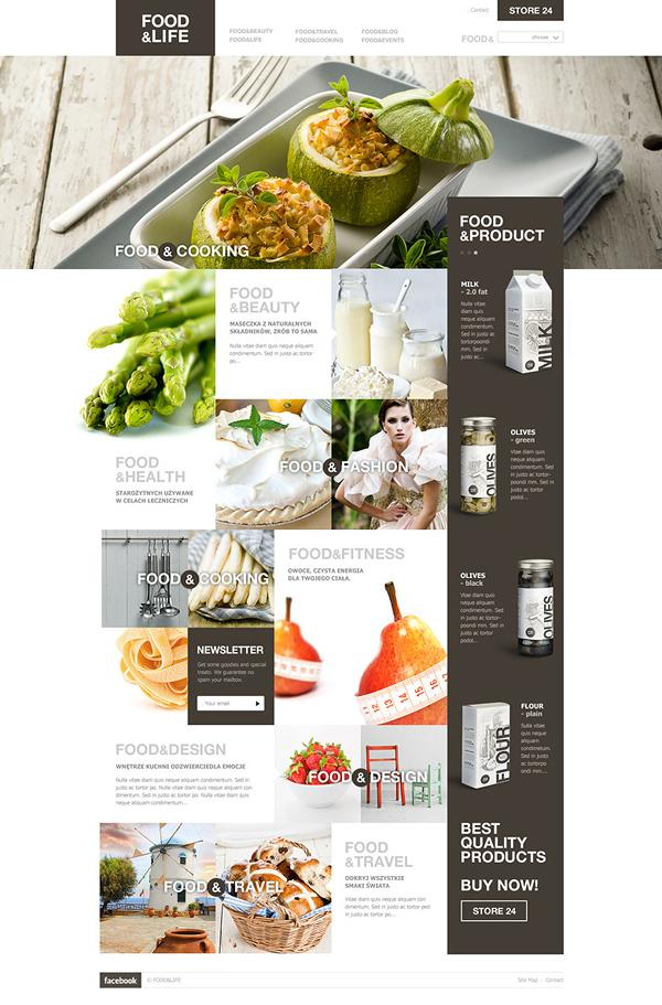 Web / Food — Designspiration