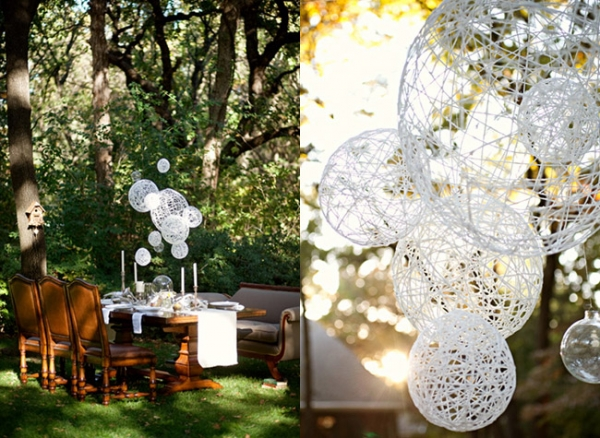 Ruffled do it yourself diy string wedding lanterns yarn ruffled do it yourself diy string wedding lanterns yarn chandeliers solutioingenieria Images