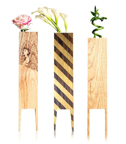 LEBORED Limited Edition Wood Vases - Design Milk | Design Milk