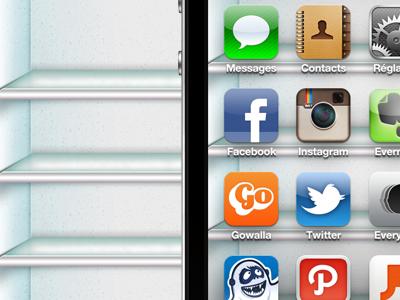 Fridge shelf - iPhone Background by Robin Clediere