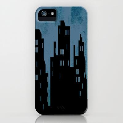 City Skyline Blue iPhone Case by Ally Coxon | Society6